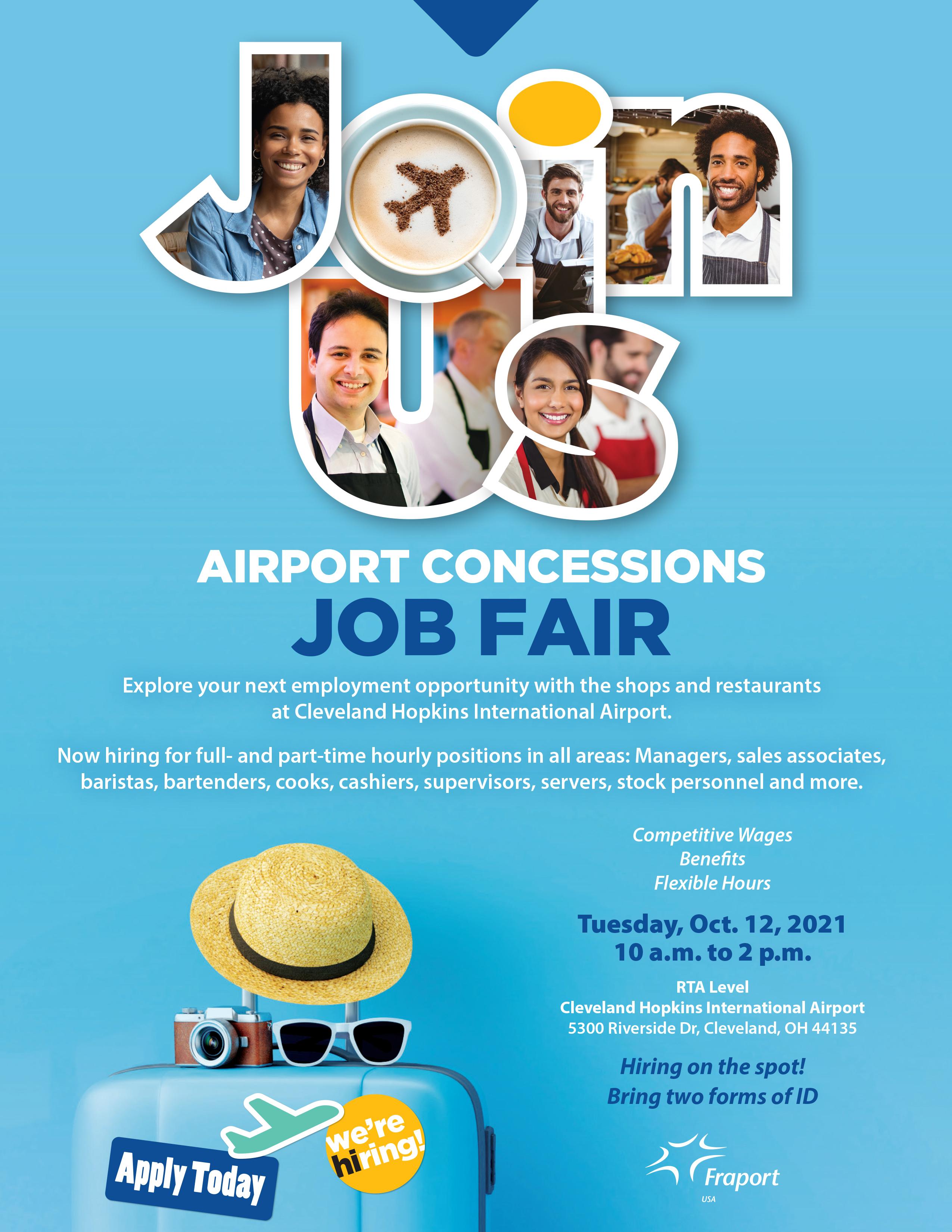 Airport Concessions Job Fair Coming Soon!