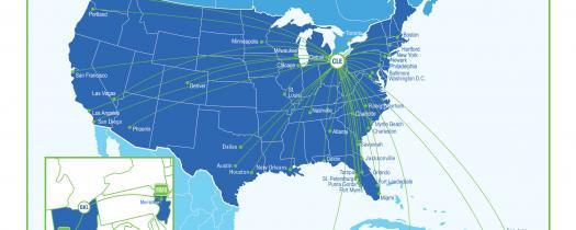 Non-Stop Markets-Route Map